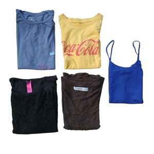 Lot of 5 Short Sleeved Tops, Various Brands, S